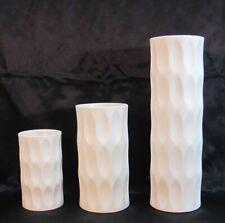 3 Vasen Hutschenreuther H. Fuchs Vase  Op Art signiert (D)