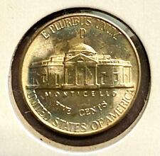 1943-D SILVER JEFFERSON NICKEL - CHOICE BU - UNCIRCULATED - VERY STRONG STEPS