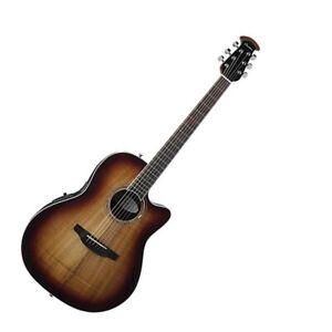 Ovation Celebrity Plus Super Shallow 6 String Acoustic Electric Guitar - Koa Bur