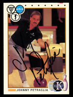 Johnny Petraglia #89 signed autograph 1990 Kingpins PBA Bowling Trading Card