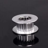 3D Printer Parts 20T Belt Width 6Mm Gt2 Belt Idler Pulley 5Mm Bore Aluminum w/