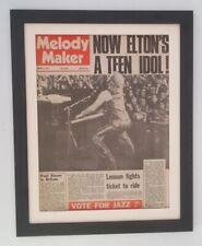 More details for elton john*teen idol*1973*rare*original*cover*quality framed* fast world ship