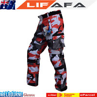 Cordura TEXTILE Motorbike Camo Pants For Bikers Breathable Waterproof Pant Red