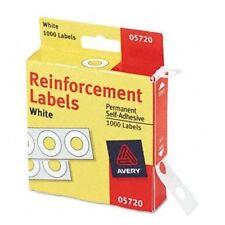 "Avery Reinforcement Label - 0.25"" Diameter - Polyvinyl - 1000 / Pack (ave05720)"