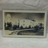 Vintage Postcard Shrine Of The Little Flower Scene Royal Oak Michigan Tower