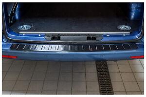 Edelstahl Ladekantenschutz Anthrazit für VW T6 T6.1 Multivan Cali 5 Jahre Garant