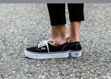 Vans Authentic Platform Black Women's Skate Shoes Size 5