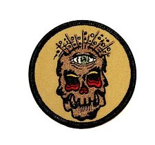 Artist Reed Skull One Eye Embroidered Iron On Badge Applique Patch FD 2230