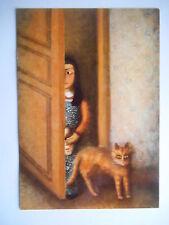 """CPM """"Chat et fillette"""" Ibéria Lebel"""