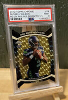 2012 Topps Chrome Russell Wilson Superfractor 1/1 RC Red Zone Rookies SSP PSA 9