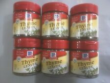 McCormick Thyme Leaves, 0.37 OZ Each X6 you get six as photo best to use by 1/19