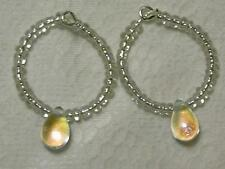 Beads Silver Plated Hoop Handcrafted Earrings without Stone