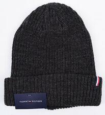 TOMMY HILFIGER Men's Warm Knitted Beanie Hat, Dark Grey, One Size - Adult