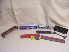 LOT of HO Scale Freight Car Parts (Includes Roof, Chassis, Side, and End Pieces)