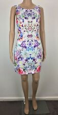Forever New Sz 8 Women's Party/Cocktail Sheath Dress White Multi-Coloured Floral