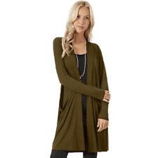 Women Winter Warm Cardigan Fluffy Fur Coat Casual Long Jacket Outwear Overcoat