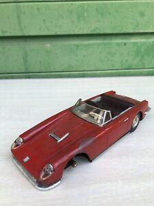 Jouet ancien auto Ferrari Mont Blanc rouge cabriolet Joustra JRD vintage