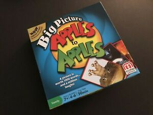 Big Picture APPLES to APPLES by Mattel games. NEVER PLAYED! Very Good!