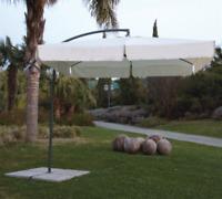Ombrellone Almeria Acciaio Sbraccio Quadro 2,5 x 2,5 MT Telo Beige 180 Gr/Mq