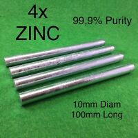 """Zn 99.95/% Purity Zinc Rod Solid Round Bar 0.4/""""x 4/""""//10*100mm Anode Electroplating"""
