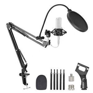 Microphone Desk Arm Stand Mount Boom Scissor Mic Holder For Blue Yeti Snowball