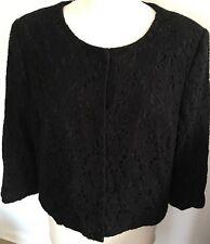 Edina Ronay Designer Ladies Size 16 Black Lace Formal Cropped Jacket
