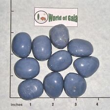 ANGELITE Soft Blue, large tumbled, 1/2 lb, bulk stones Peru 9-11 pk rounded