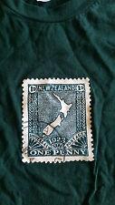 American Apparel Green New Zealand stamp print Tee szS BNWOT free post D81