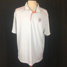 Nike Golf US Open Men's XL Polo Shirt Grey Short Sleeve Pinehurst #2 Dri-Fit
