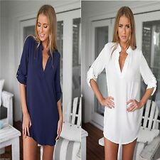 Unbranded Chiffon Long Sleeve Casual Dresses for Women
