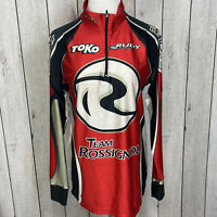 Craft Mens Size Large Red Black Silver 1/4 Zip Motocross Racing Shirt Pullover