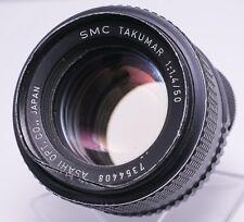 Asahi Pentax SMC Takumar 50mm F1.4 M42 Screw Lens For SLR/Mirrorless Cameras
