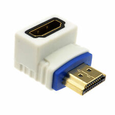 PRO HDMI 2.0 Right Angle Adapter Socket to Plug High Speed 90 Degree [008724]
