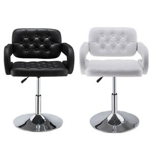 Quilted Leather Style BarBer Chair Beauty Hairdresser Salon Beauty Chair Stool