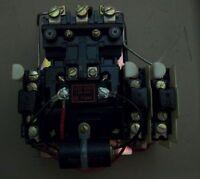 ALLEN BRADLEY SIZE 1 709-B0D103 3 phase Motor Starter with 120V Coil