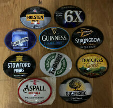 More details for 10 x mixed brands of used oval fish eye/frog eye bar beer pump badges/lens #2