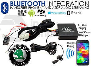 CTASKBT003 Skoda Fabia Bluetooth music streaming adapter handsfree AUX iPhone
