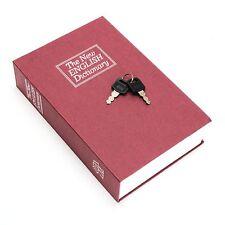 New English Dictionary Book Safe Lock Key Real Home Hidden Security Secret Box