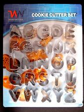 26PC ALPHABET COOKIE CUTTER SET - KITCHEN KIDS LEARNING ABC STAINLESS STEEL FUN