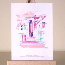 New York City Museum drawing Manhattan architecture ACEO fauvism cityscape art