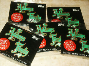 Topps 1991 The Addams Family sealed trading card pack Factory Sealed NOS