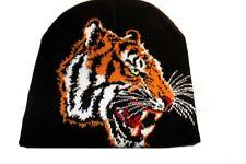 Bonnet à tête de tigre  mixte ( 100% acrylique )  ( Motif de face uniquement )a3