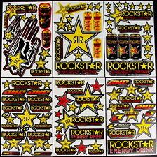 6 stickers decal Rockstar etc Energy Motocross drink MX skateboard BMX Bike rRY