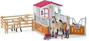 Schleich horse stall with arab horses and groom play set for children over 3