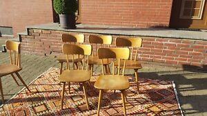 Zwei Vintage Sprossen  Stuhl Stühle Holzstuhl Kneipenstuhl 50er 60er Jahre