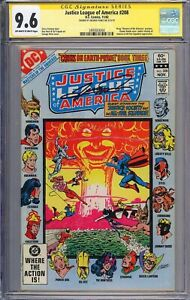 CGC SS 9.6 JLA # 208 JSA SIGNED George Perez Cover Art Masters of the Universe