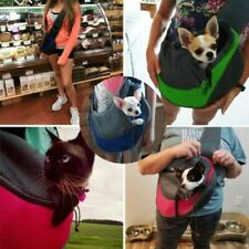 Pet Puppy Dog Mesh Sling Carry Pack Backpack Carrier Travel Tote Shoulder Bag