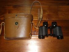 RARE WWII DIENSTGLAS 8X30 BINOCULARS MARKED RIN+ (ZEISS) W/ LEATHER CASE