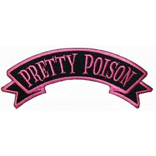 """""""Pretty Poison"""" Tag Horror Death Kreepsville Embroidered Iron On Applique Patch"""