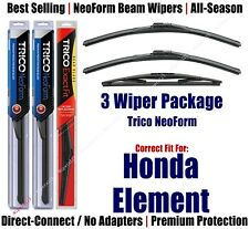 3-Pack Wipers Front & Rear NeoForm - fit 2003-2011 Honda Element - 16200x2/12B